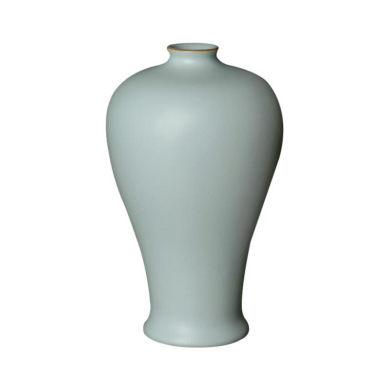 汝窑梅瓶摆件大号手工仿古青瓷花瓶