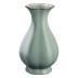 景德镇仿古汝窑中式手工青瓷葵口花瓶