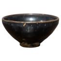 明代建窑黑釉蓝鹧鸪斑建盏古玩古董收藏品