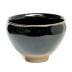 银口复古乌金釉建盏建阳原矿黑瓷品茗杯