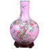 景德镇中式粉彩手绘花瓶客厅插花摆件