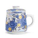 金镶玉珐琅彩过滤茶杯茶具套装
