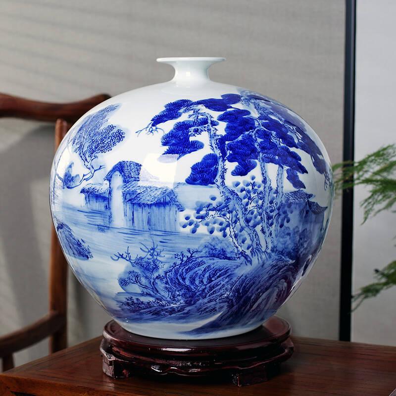景德镇陶瓷器花瓶电视机摆件