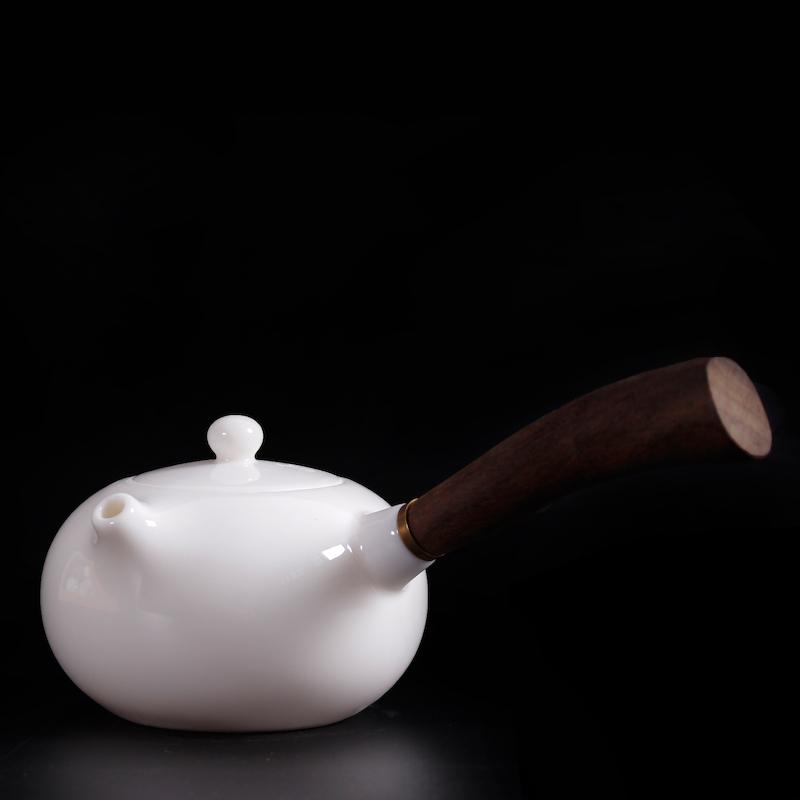 德化陶瓷白瓷羊脂玉功夫茶具套装小套茶壶家用客厅办公室会客网红